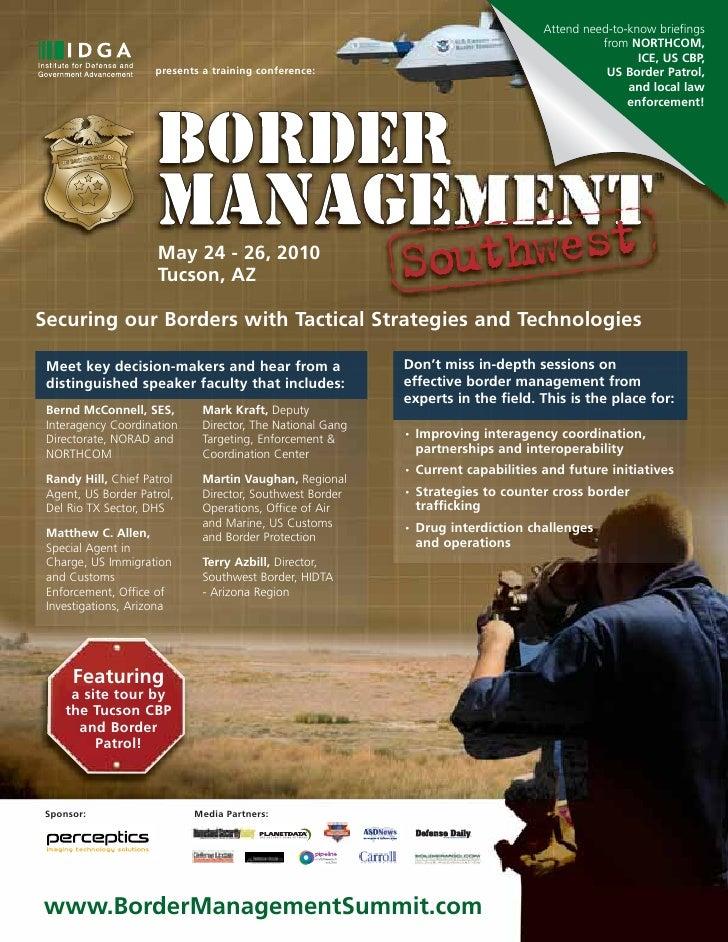 """""""Border Management Summit Southwest"""