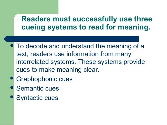 using a nonsense sentence to explain the process of reading