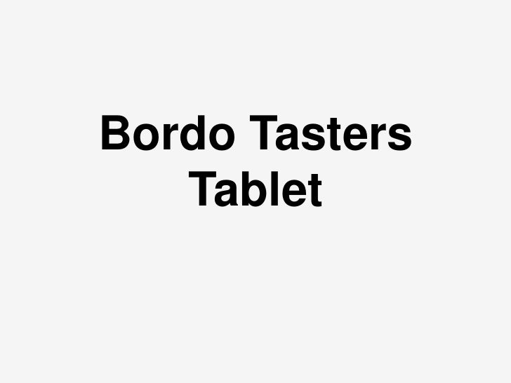 Bordo Tasters   Tablet
