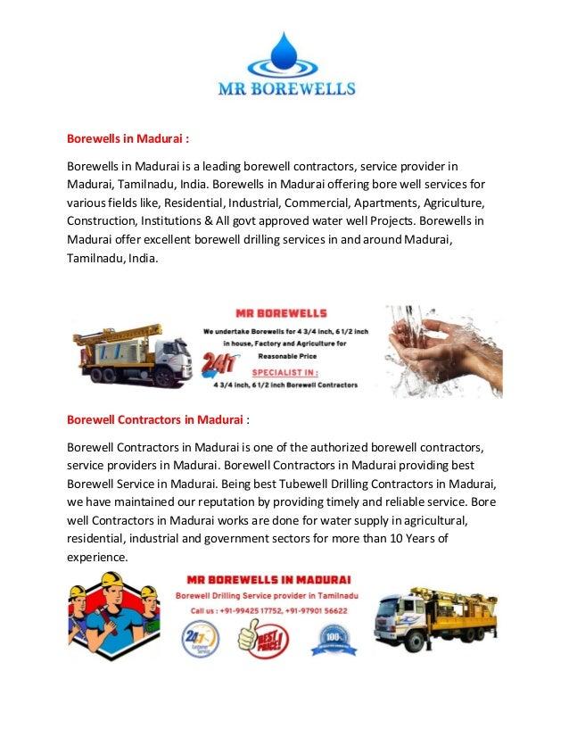 Borewells in Madurai : Borewells in Madurai is a leading borewell contractors, service provider in Madurai, Tamilnadu, Ind...