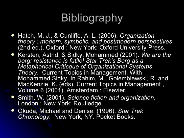 hatch m j cunliffe a l 2006 organization theory Organization theory : modern, symbolic, and postmodern organization theory offers a clear and and postmodern perspectives / mary jo hatch with ann l cunliffe.
