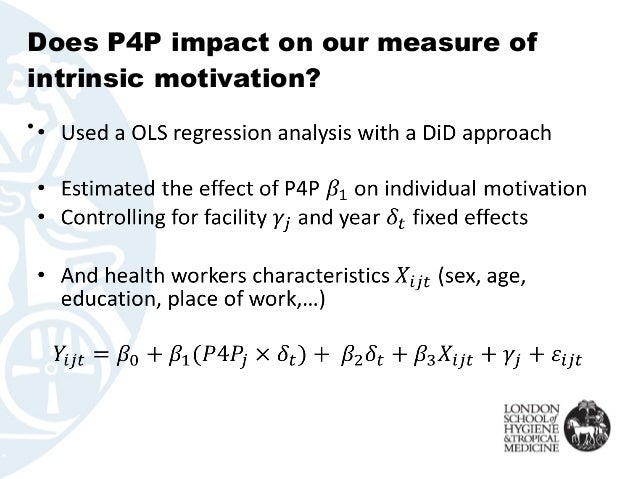 Does P4P impact on our measure of intrinsic motivation? •