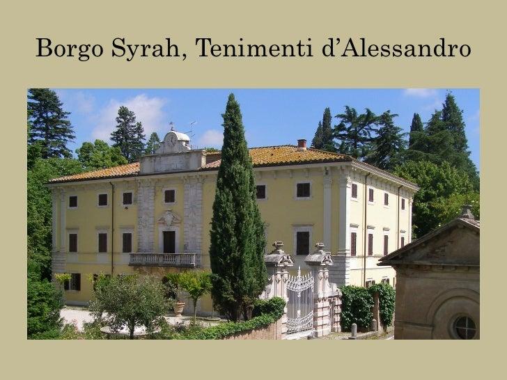 Borgo Syrah, Tenimenti d'Alessandro