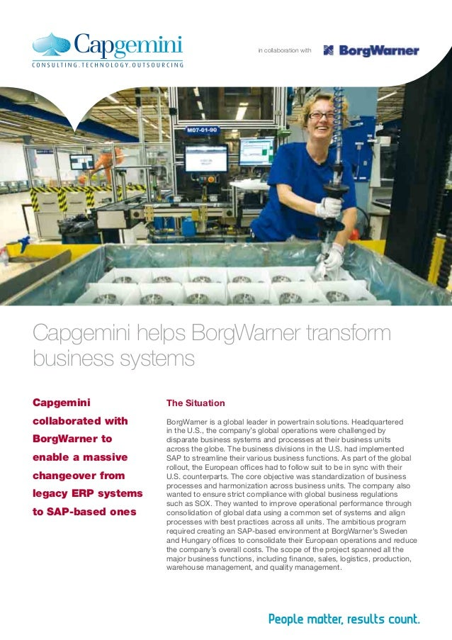 The Situation BorgWarner is a global leader in powertrain solutions. Headquartered in the U.S., the company's global opera...