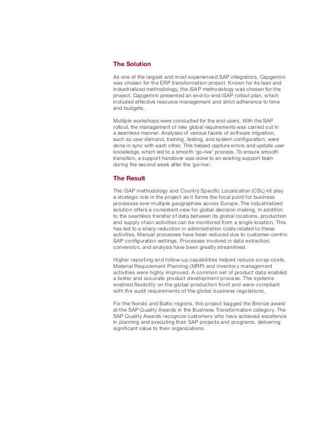 BorgWarner Transform Their Business Systems Slide 2