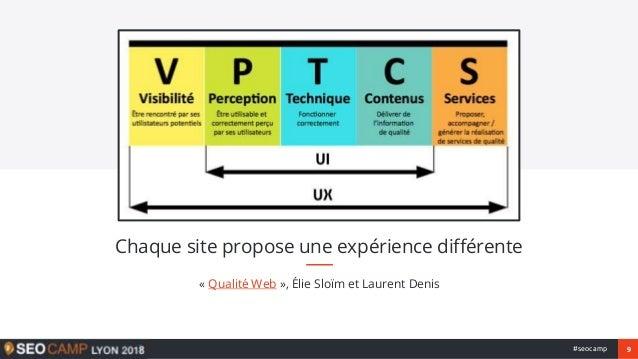 9#seocamp « Qualité Web », Élie Sloïm et Laurent Denis Chaque site propose une expérience différente