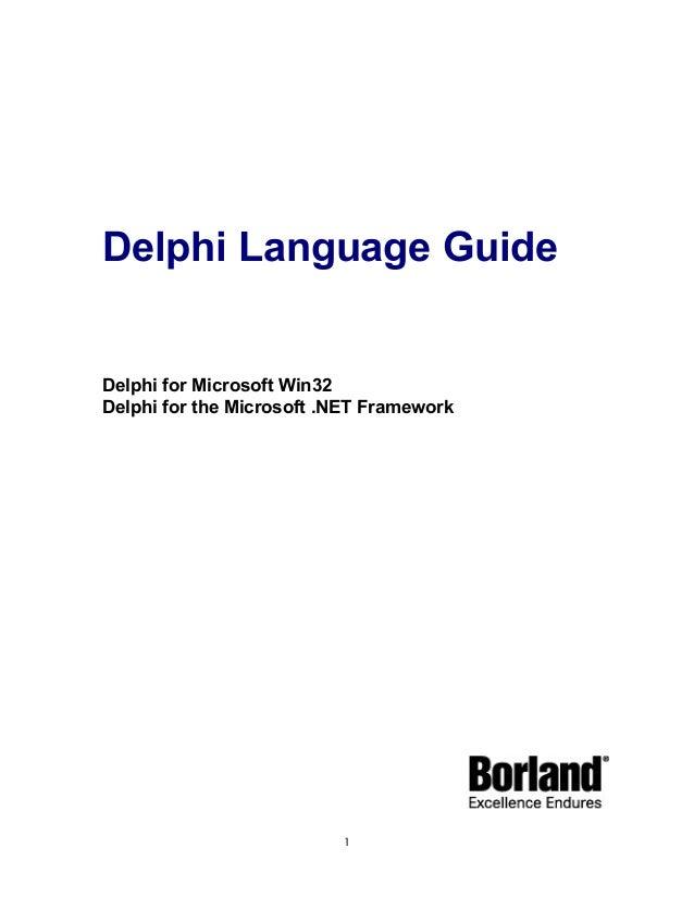 borland delphi delphi programming language guide rh slideshare net Borland Delphi 9 Delphi Application Development
