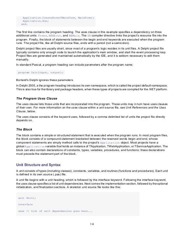 borland delphi delphi programming language guide rh slideshare net Delphi XE4 Update Embarcadero Delphi Review