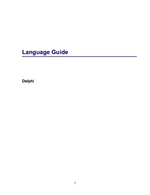 borland delphi delphi programming language guide rh slideshare net Delphi Application Development Borland Delphi 9
