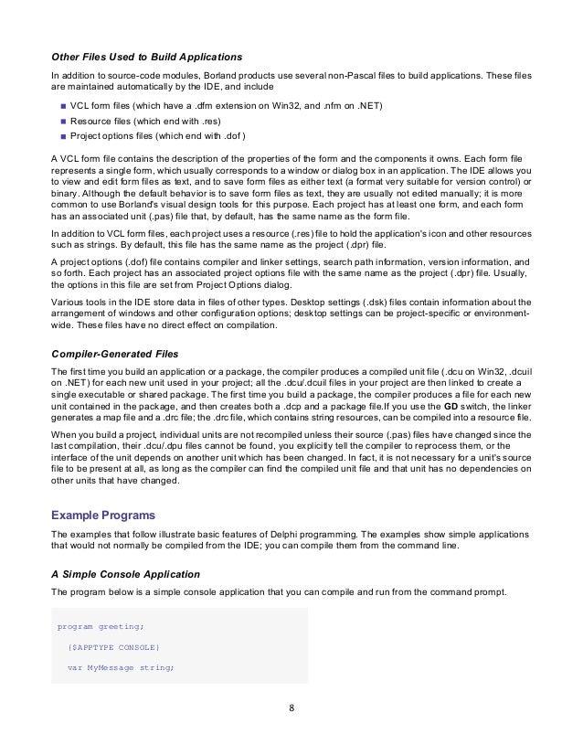 borland delphi delphi programming language guide rh slideshare net Embarcadero Delphi 2010 Borland Delphi 9