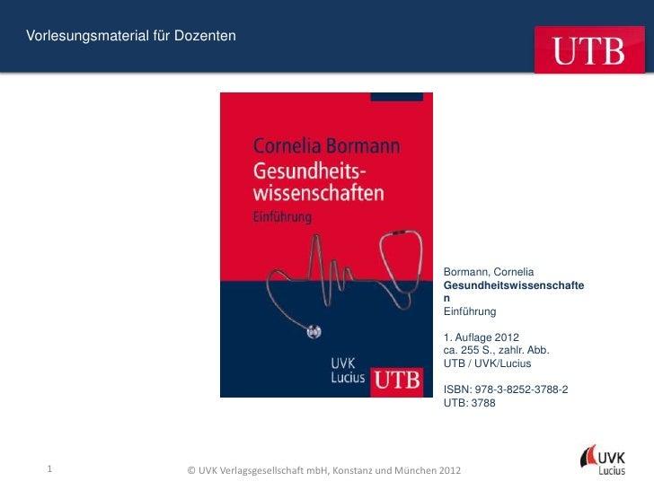 Vorlesungsmaterial für Dozenten                                                                           Bormann, Corneli...
