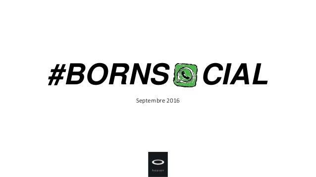 #BORNS CIAL Septembre 2016