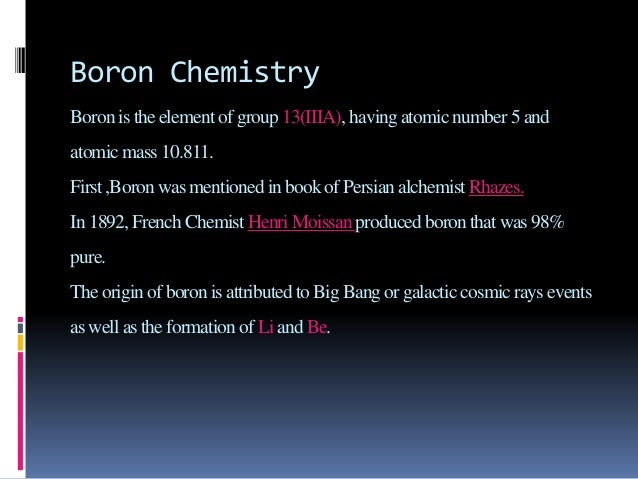 What Is Physical And Chemical Properties Of Boron
