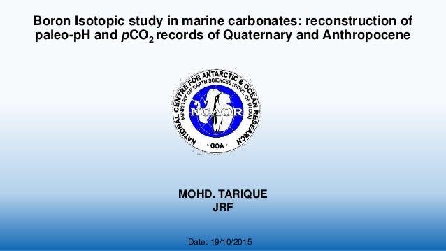 Premise Indicator Words: Boron Isotope Ratio As A Paleo PH Proxy