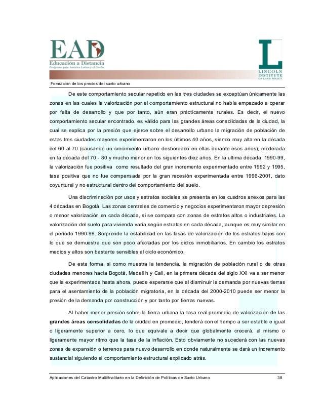 Formaci n de precios del suelo urbano oscar borrero 2005 for Modelo demanda clausula suelo