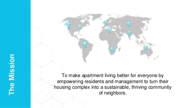 To make apartment living better for everyone by empowering residents and management to turn their housing complex into a s...
