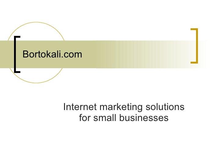 Bortokali.com Internet marketing solutions for small businesses