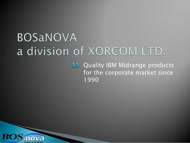 Quality IBM Midrange productsfor the corporate market since1990