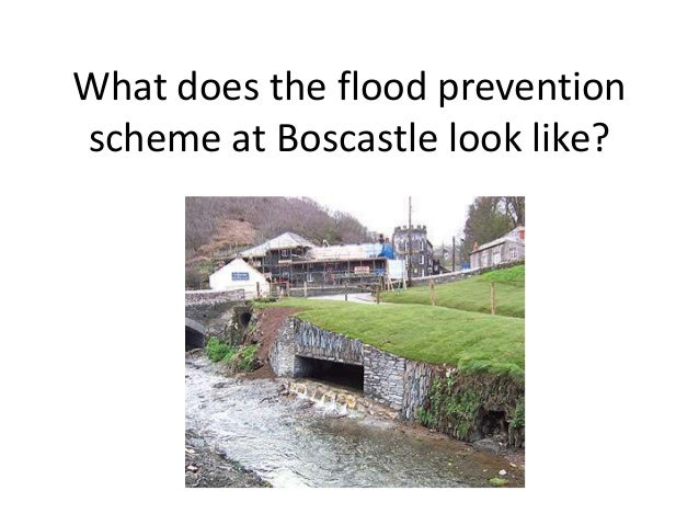 What does the flood preventionscheme at Boscastle look like?
