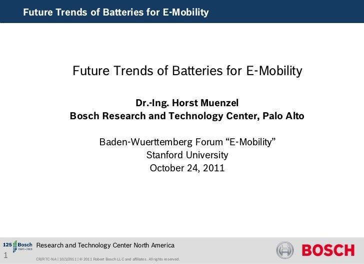 Future Trends of Batteries for E-Mobility                           Future Trends of Batteries for E-Mobility             ...