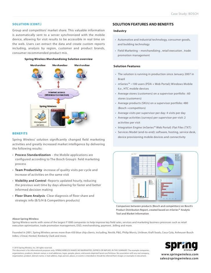 Bosch Case Study | Economies | Business - Scribd