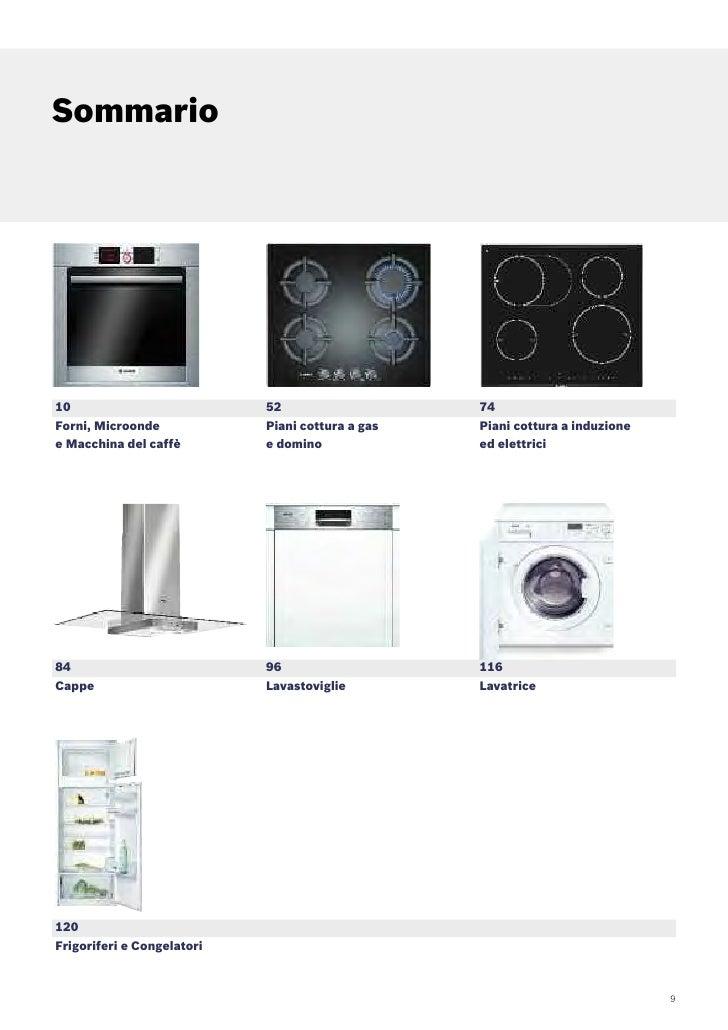 Bosch catalogo incasso 2009 for Cucinare nella lavastoviglie