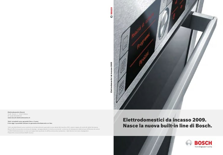 Elettrodomestici da incasso 2009. Nasce la nuova built-in line di Bosch.