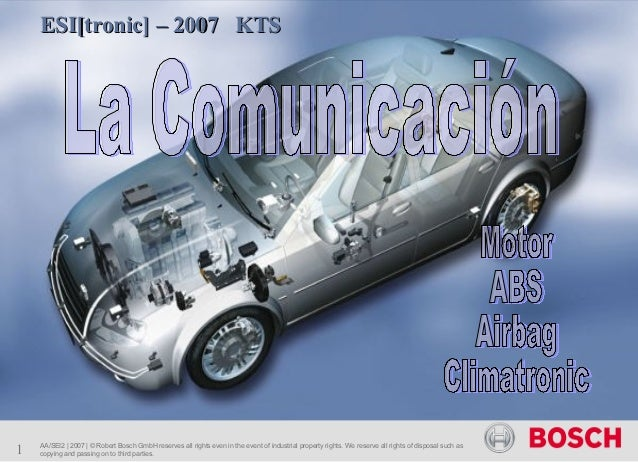 ESI[tronic] – 2007 KTS1   AA/SEI2 | 2007 | © Robert Bosch GmbH reserves all rights even in the event of industrial propert...