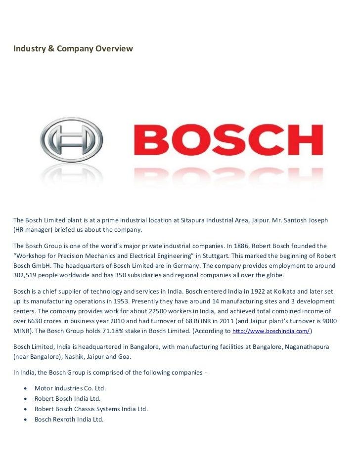 Bosch visit Slide 3