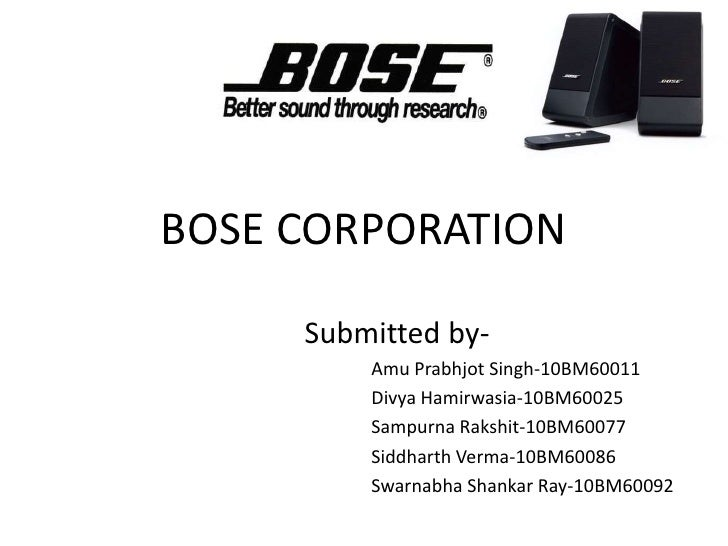 bose corp jit ii The jit ii program (a) case study solution, bose corporation estimates an unusual plan to manage relationships with suppliers, which supply components for speaker bose the company must decide: 1) wh home.