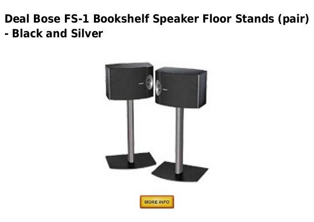 Deal Bose FS 1 Bookshelf Speaker Floor Stands Pair Black And Silver