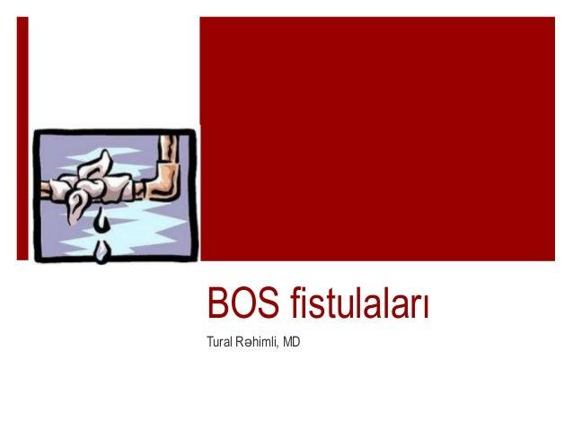 BOS fistulaları Tural R himli, MDə