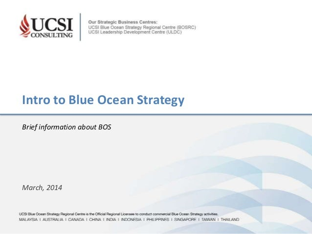 UCSI Blue Ocean Strategy Regional Centre is the Official Regional Licensee to conduct commercial Blue Ocean Strategy activ...