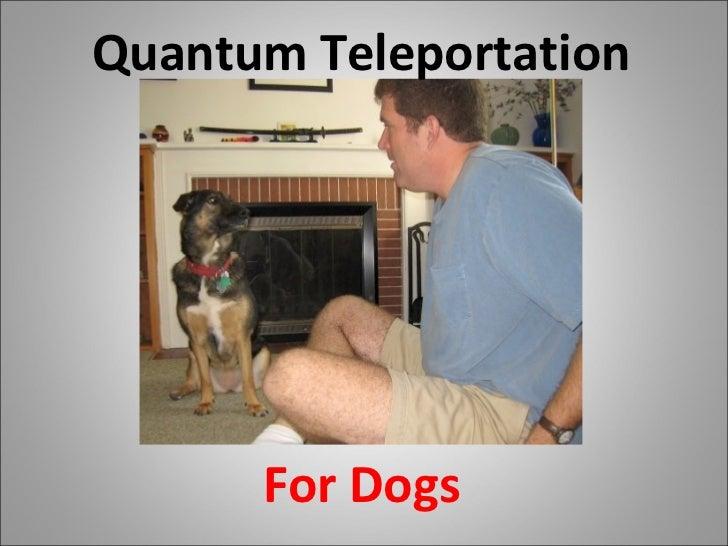 Quantum Teleportation For Dogs