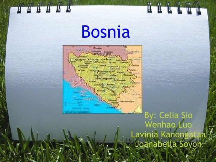 Bosnia By: Celia Sio Wenhao Luo Lavinia Kanongataa Joanabella Soyon