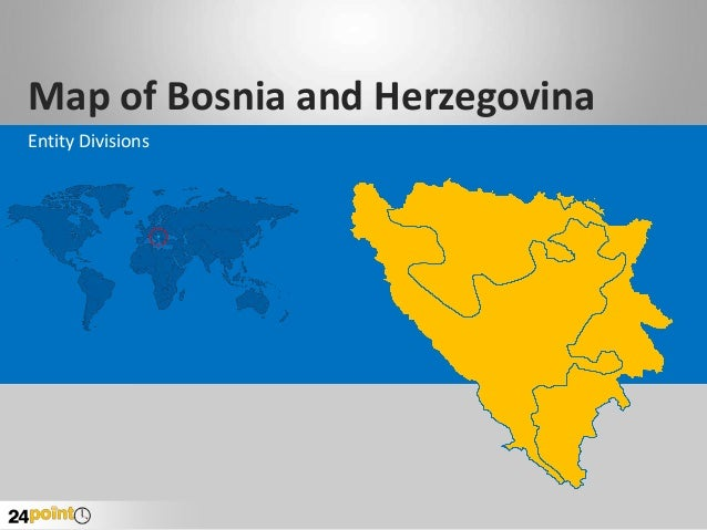 Map of Bosnia and Herzegovina Entity Divisions