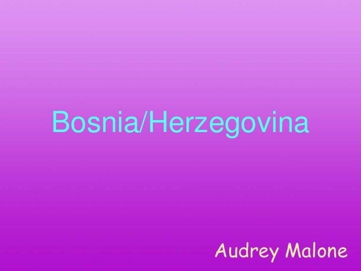 Bosnia/Herzegovina           Audrey Malone