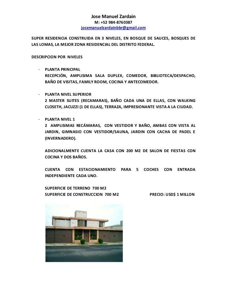 Jose Manuel Zardain                              M: +52 984-8760387                        josemanuelzardainbbr@gmail.comS...