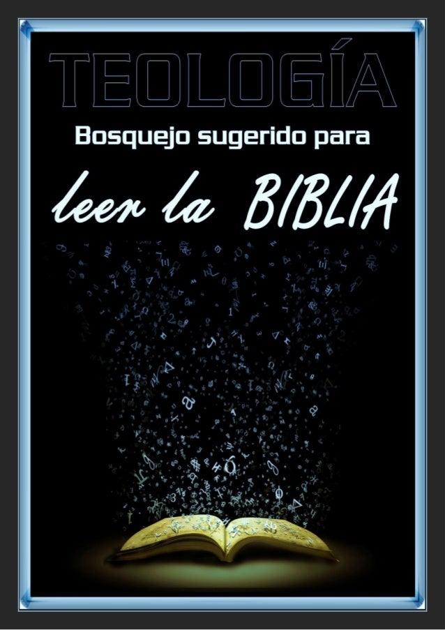 UN POSIBLE ORDEN DE LECTURA DE LA BIBLIA  ¿Cómo debemos o es más conveniente leer la Biblia? ¿En qué orden? Por lo pronto,...