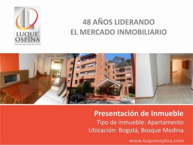 Ubicación del Inmueble                          Barrio: Bosque Medina                Carrera                Novena        ...
