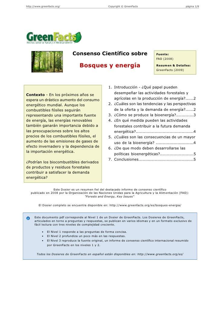 http://www.greenfacts.org/                               Copyright © GreenFacts                                página 1/8 ...