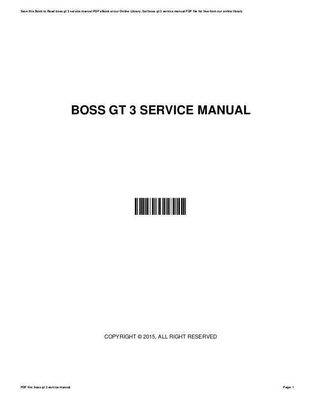 boss gt 3 service manual rh slideshare net boss gt 3 manual download boss gt 3 manual pdf