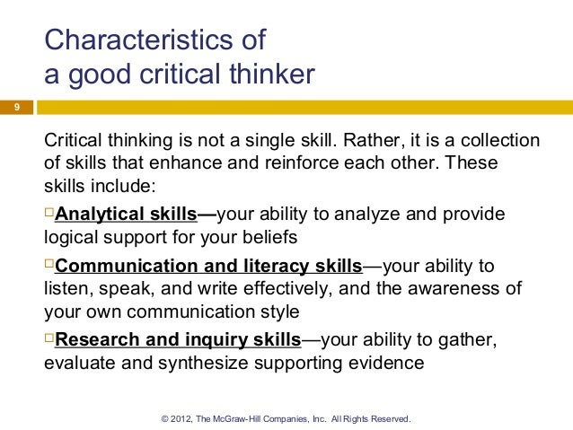 critical thinking skills effective analysis argument and reflection pdf download