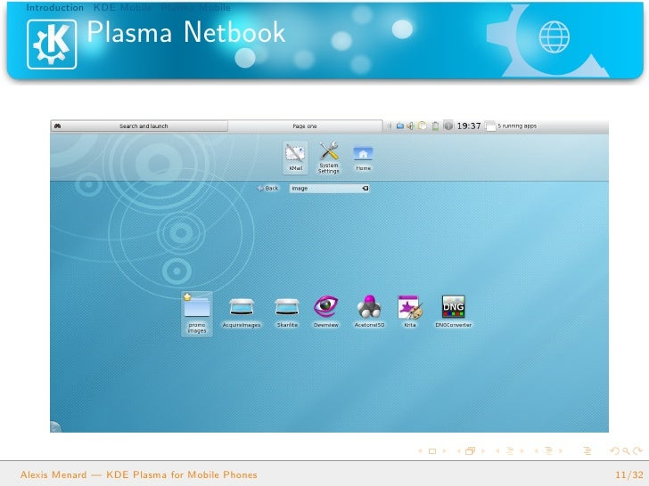 KDE Plasma for Mobile Phones