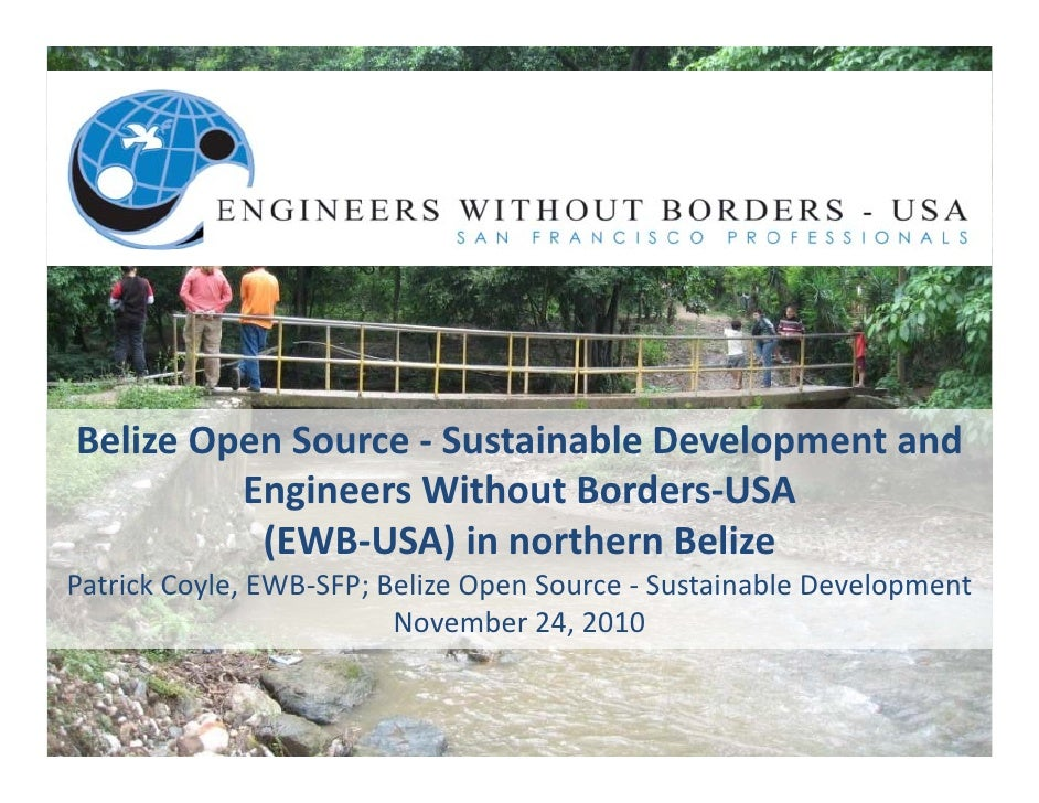 Belize Open Source - Sustainable Development and Engineers Without Borders