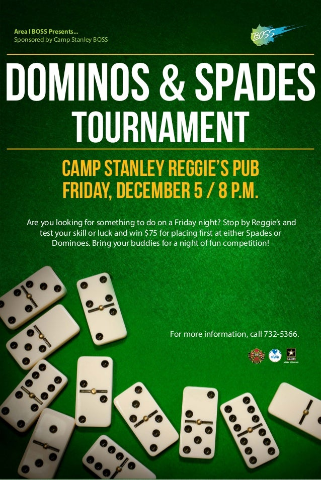 Boss Dominos Amp Spades Tournament