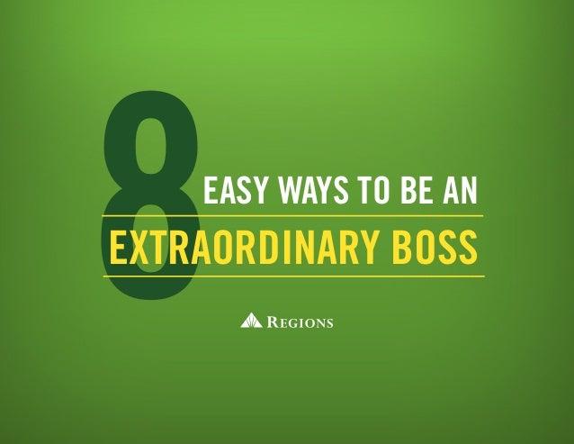 8easy ways to be an Extraordinary Boss
