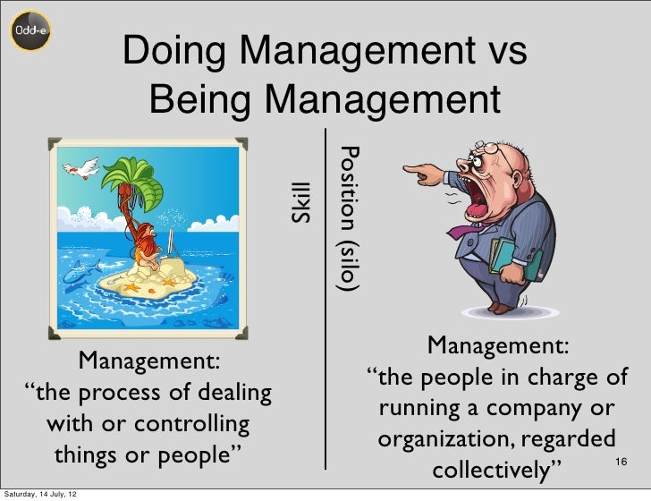 Doing Management vs                         Being Management                                       Position (silo)        ...