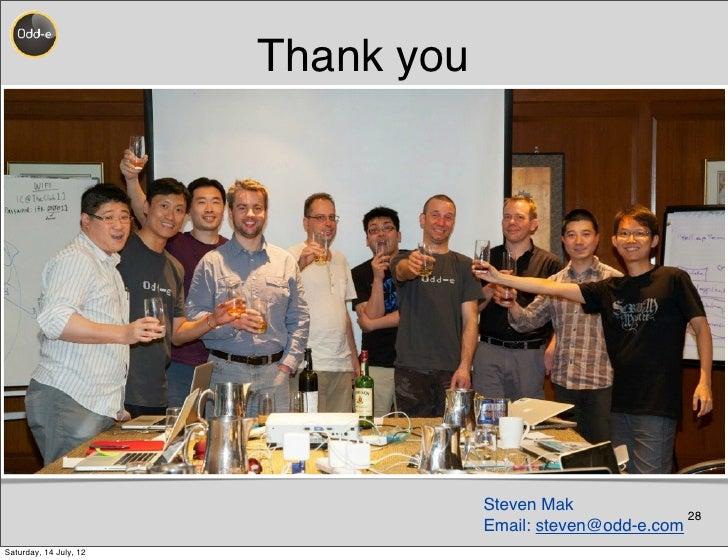 Thank you                                    Steven Mak                                                            28     ...