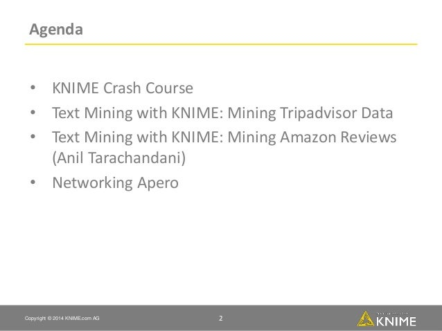 knime text processing  software